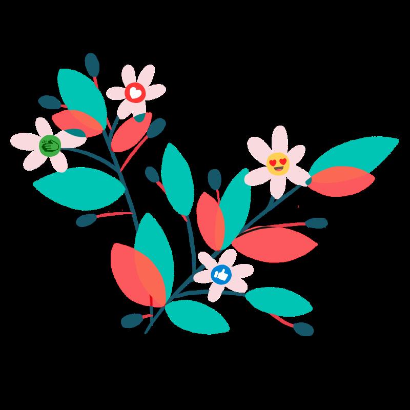 bouquet de fleur emojis like